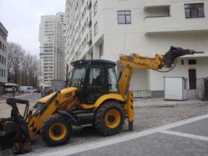 Аренда экскаватора Киев, услуги экскаватора jcb